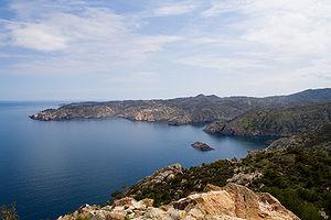 El Golfet viewed from Cap Gros, Cap de Creus
